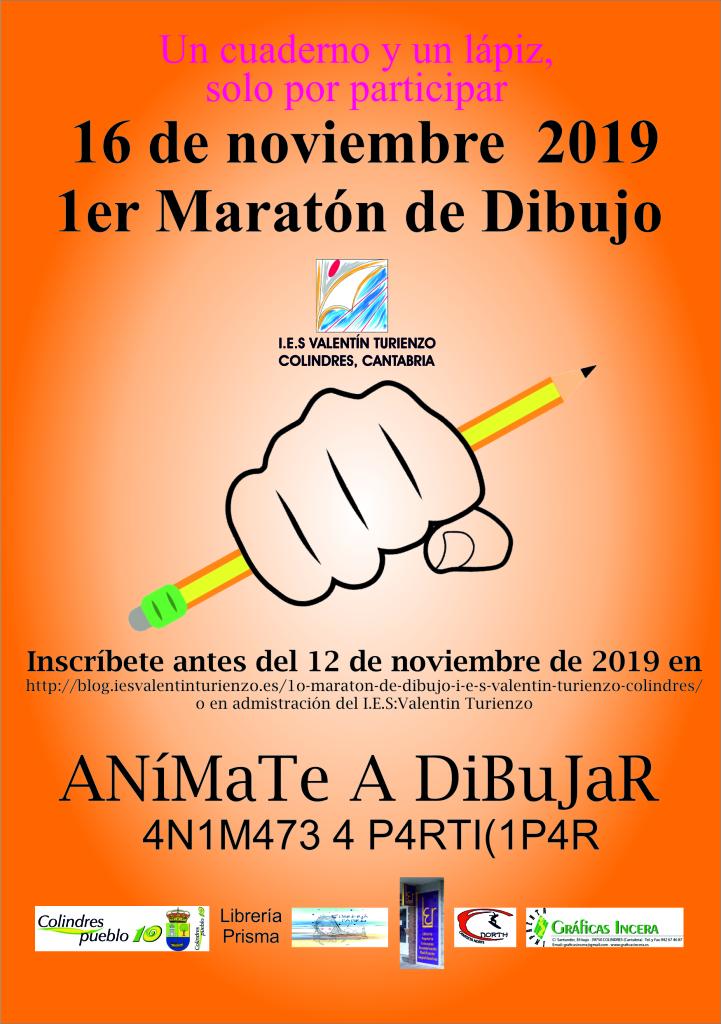 I Maratón de Dibujo Colindres cartel
